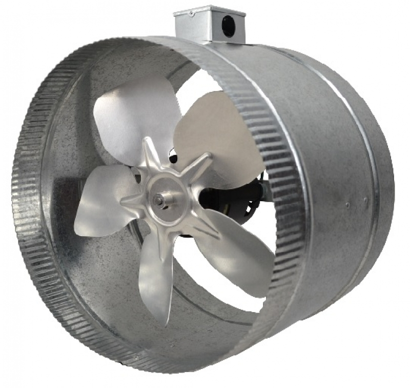 "4 POLE IN-LINE DUCT BOOSTER FAN 12"" thru 16"" Duct"