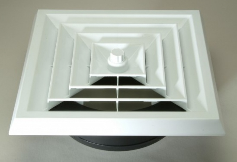 QUICK CONNECT Square Ceiling Diffuser with Boot