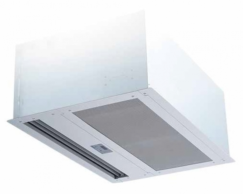 High Capacity RECESSED CEILING Air Curtain 120-240V Single Phase UNHEATED