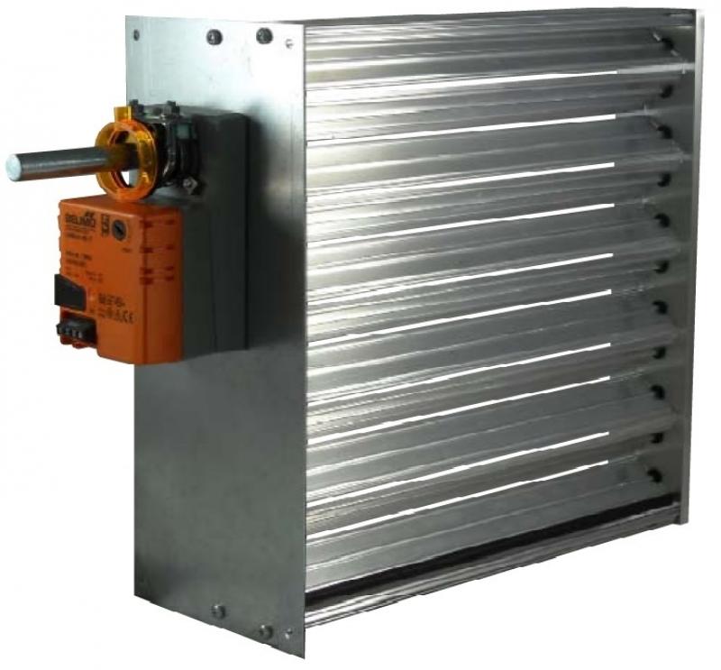 Wall Grille With Opposed Blade Damper : Vav modulating vdc opposed blade v damper