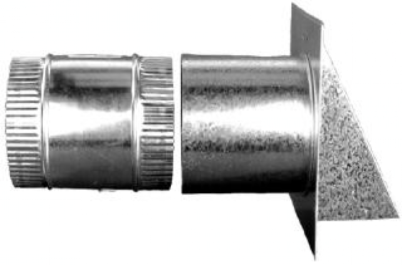 Reversible Backdraft Damper With Wall Vent