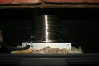 Draw Collar Fireplace Insert Chimney Draft Inducer